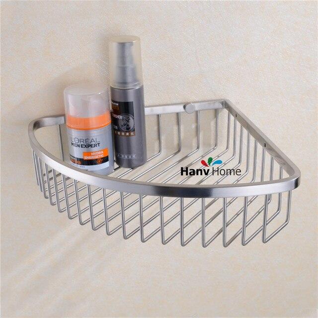 Stainless Steel Brushed Nickel Bathroom shower shelf Bracket Shelves ...