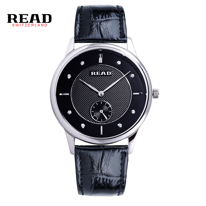 READ relogio masculino Luxury Brand  Analog Display Date Men's Quartz Business  Watch women fashion military leather strap R6025 high quality 2016 luxury brand fashion women geneva roman watch lady pu leather analog quartz wristwatch relogio masculino mujer