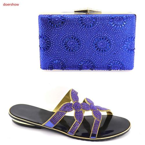 Et Sacs Italien Ensemble Or Royal Sac Assorties Pour Dans Correspondre bleu Africain Chaussures Bleu Doershow 16 À Avec Femmes rouge Sbv1 I1XfFF