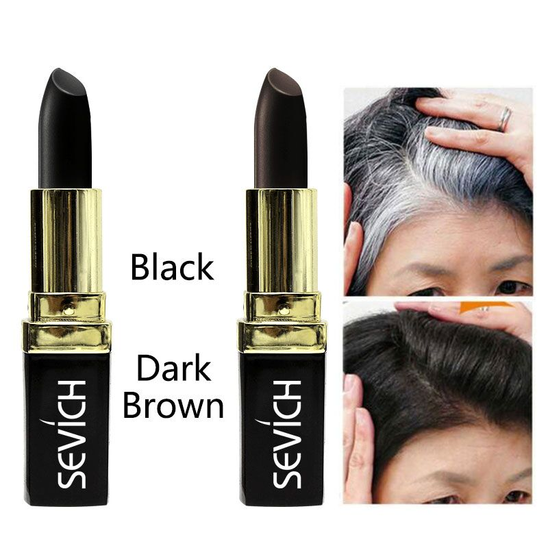 Black Brown Temporary Hair Dye Cream Mild Fast One-off Hair Color Pen Cover White Hair High Hairline DIY Styling Makeup Stick