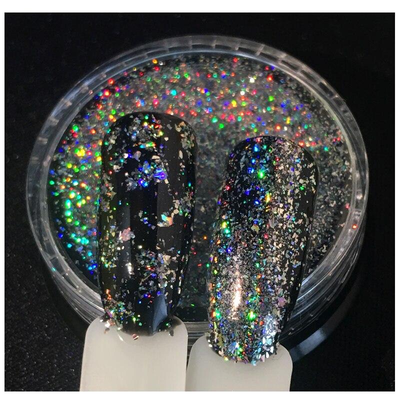 Schönheit & Gesundheit Ehrlich Beste Qualität Galaxy Holo Flocken Pulver 0,2 Gr/schachtel Bling Laser Regenbogen Fleck Glitters Unregelmäßigen Nail Art Chrome Dekorationen Schnelle WäRmeableitung
