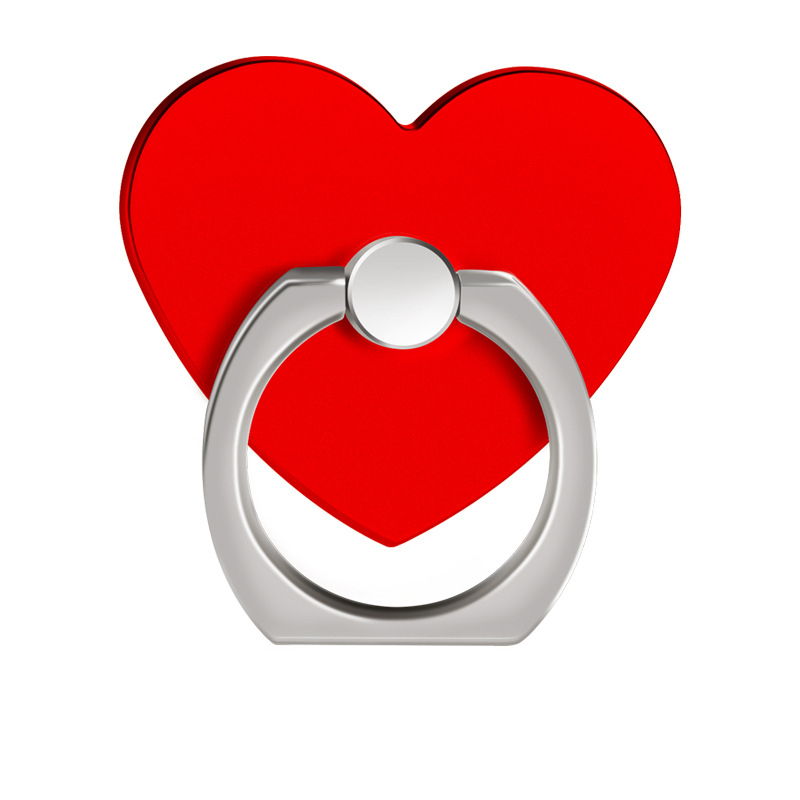Heart Shape <font><b>Metal</b></font> + ABS Cell Phone <font><b>Finger</b></font> <font><b>Ring</b></font> <font><b>Holder</b></font> Stand <font><b>360</b></font> Degree Rotating e kickstand For iPhone Tablet Mobile Devices image