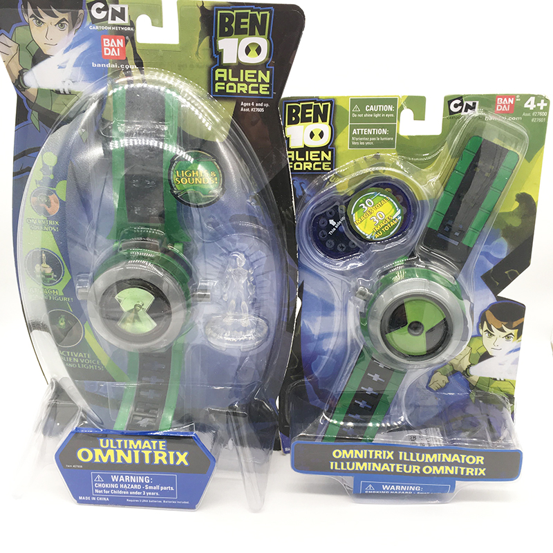 Ben 10 Ultimate Omnitrix Watch Style Japan Projector Watch BAN DAI Genuine Ben10 Watches Toy Christmas Gift for Kids Children