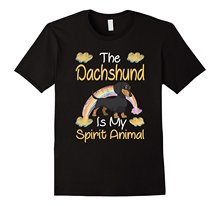The Dachshund Is My Spirit Animal T-shirt Fashion Brand Clothing Cute T Shirts Funny Cotton Casual Tee Shirt  Top Tee