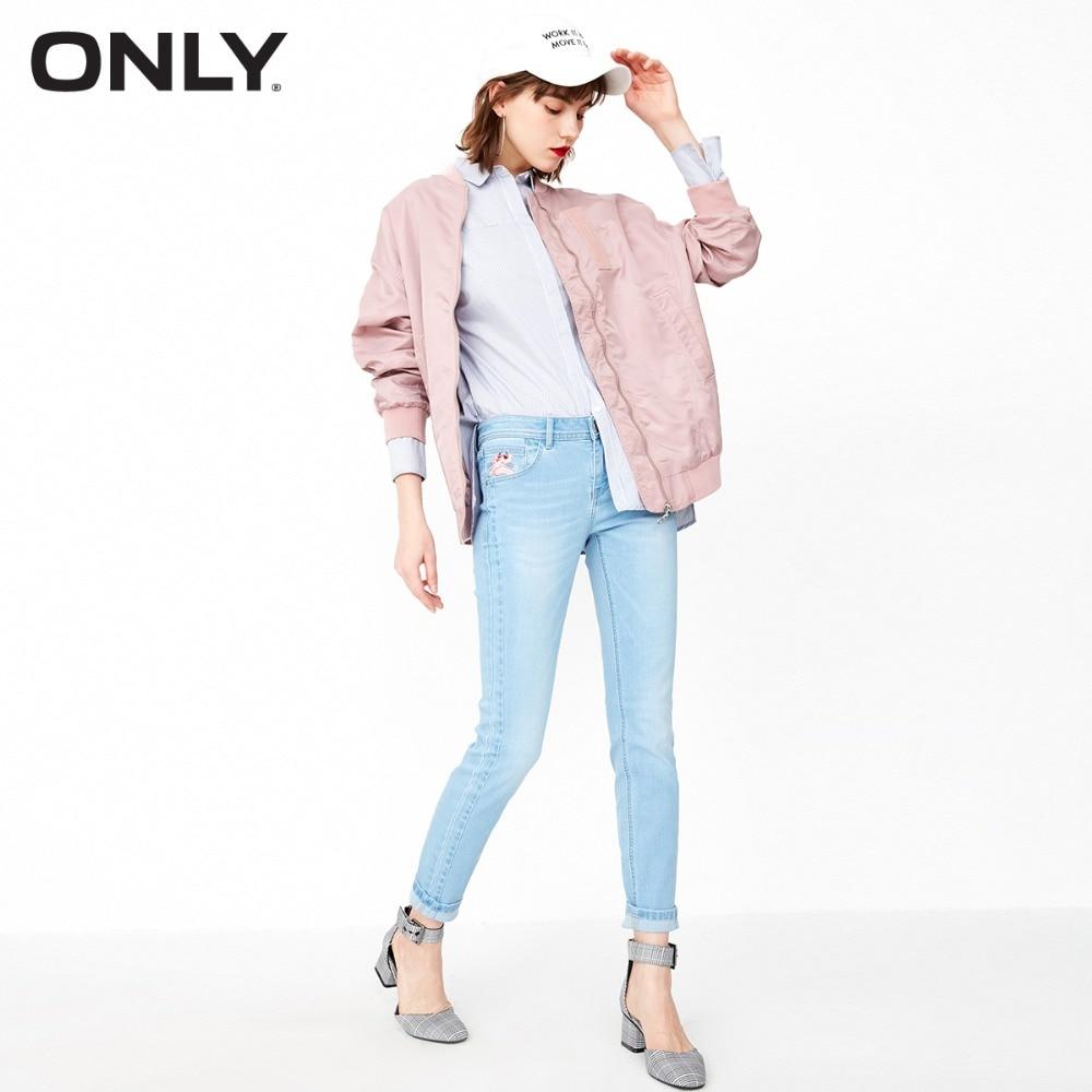 SEULEMENT 2019 Femmes de Rose Panthère Crop Jeans | 118132550