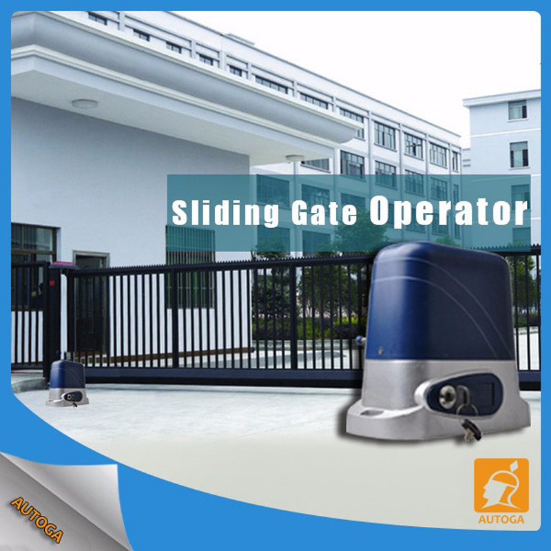 24V DC 240V 110Velectrical automatic sliding gate opener motor operator to load 500 to  800kg with 2 remote controllers automatic sliding gate opener drive gate for 3600lbs 1800kg door gate with remote controller