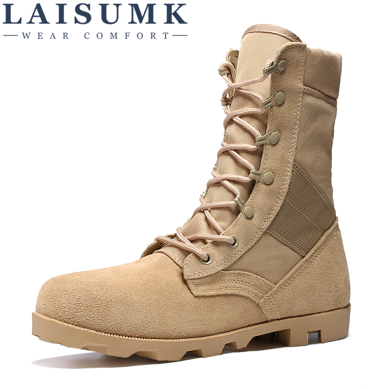 LAISUMK Winter Autumn Men Military Boots Quality Special Force Tactical Desert Combat Ankle Boats Army Work Leather Snow BootsLAISUMK Winter Autumn Men Military Boots Quality Special Force Tactical Desert Combat Ankle Boats Army Work Leather Snow Boots
