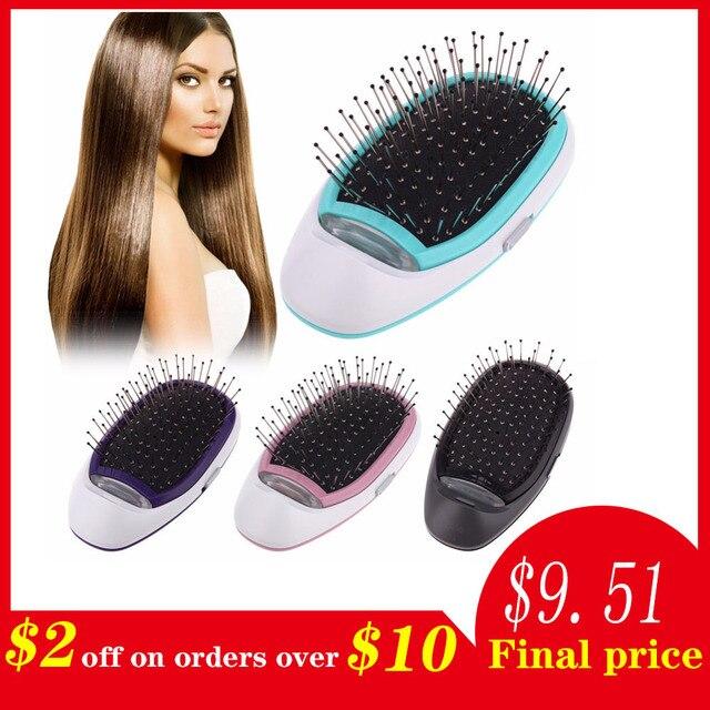 יונית חשמלי מברשת שיער, נייד חשמלי יונית מברשת שיער יונים שליליים שיער מסרק מברשת שיער דוגמנות סטיילינג קסם מברשת שיער