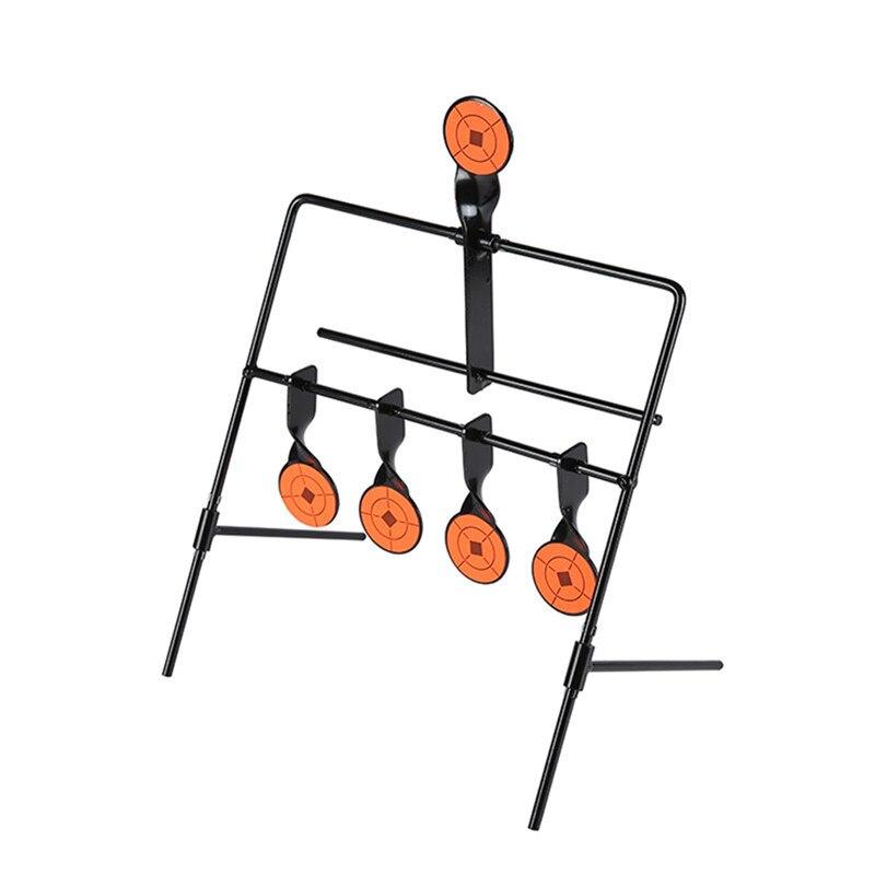 5-Plate Reset Schießscheiben Taktische Metall Stahl Slingshot BB Airsoft Paintball Bogenschießen Jagd Outdoor Indoor