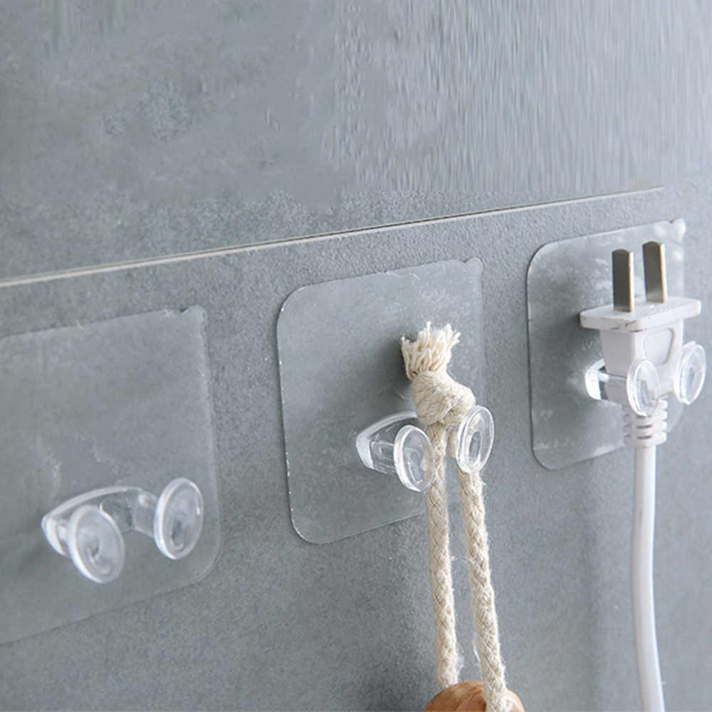 Wieszak do przechowywania na ścianie wtyczka zasilania uchwyt na wtyczkę ściany haczyki samoprzylepne podłącz hak do kuchni akcesoria łazienkowe