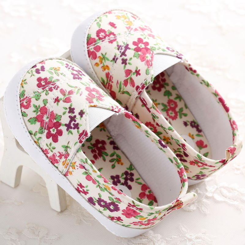 Shoes Baby-Girls First-Walkers Newborn Infant Toddler Kid Floral Colorful Cute