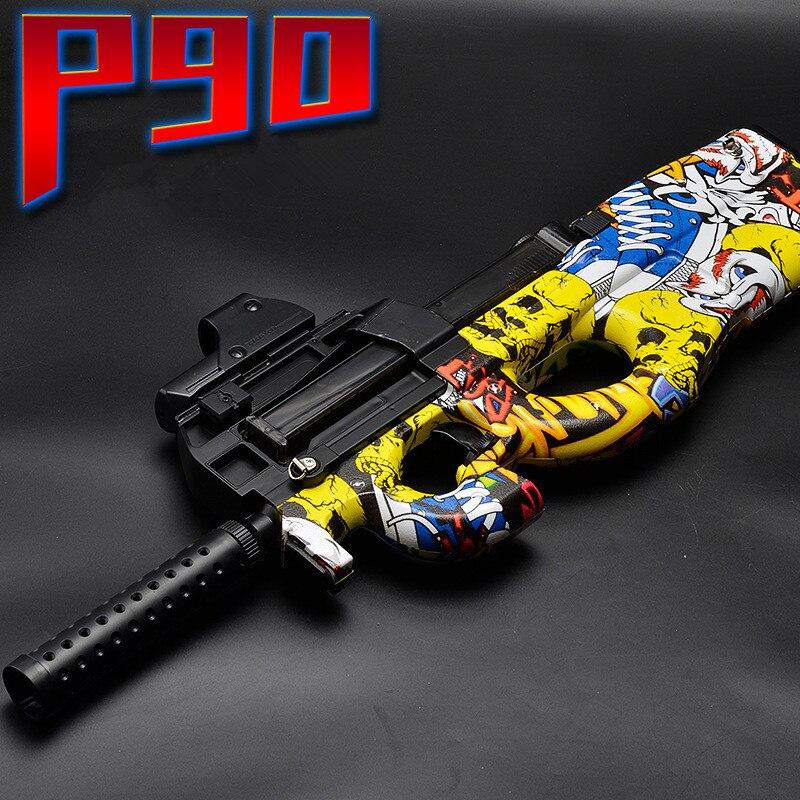 P90 électrique jouet pistolet eau balle éclate pistolet Graffiti édition en direct CS assaut Snipe arme en plein air pistolet jouets
