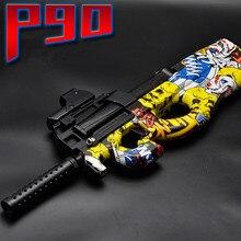 P90 электрическое игрушечное ружье воды пуля всплески пистолет Graffiti Edition жить CS нападение Бекас оружие открытый Пистолеты игрушки Лепин