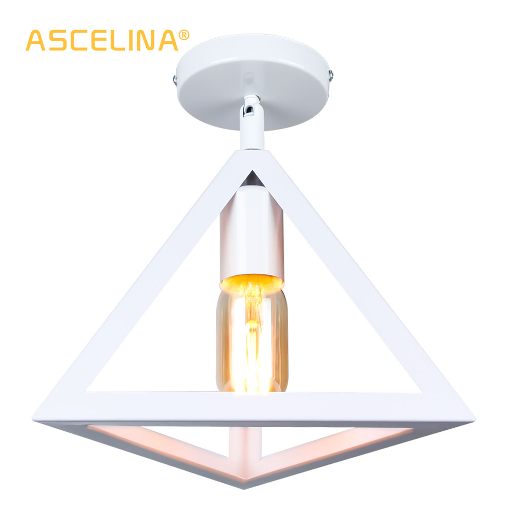 Image 4 - Vintage Ceiling Lamp Industrial ceiling light rectangle Ceiling Lighting triangle LED ceiling lights American country Fixture-in Ceiling Lights from Lights & Lighting