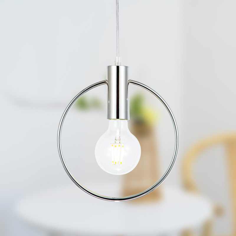 Pendant lamp Modern Pendant Lights chandelier living room Silvery rings light LED dining room Lamps hanglamp lighting bedroom 3 heads pendant lamps dining room glass pendant light living room lights bedroom pendant lamps iron lamp fg552