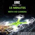 Jjrc modelo h5p 2mp hd 4ch 2.4g 6-axis gyro sin cabeza modo RC Quadcopter Drone Con Luces de Noche LED Rc Helicóptero juguete