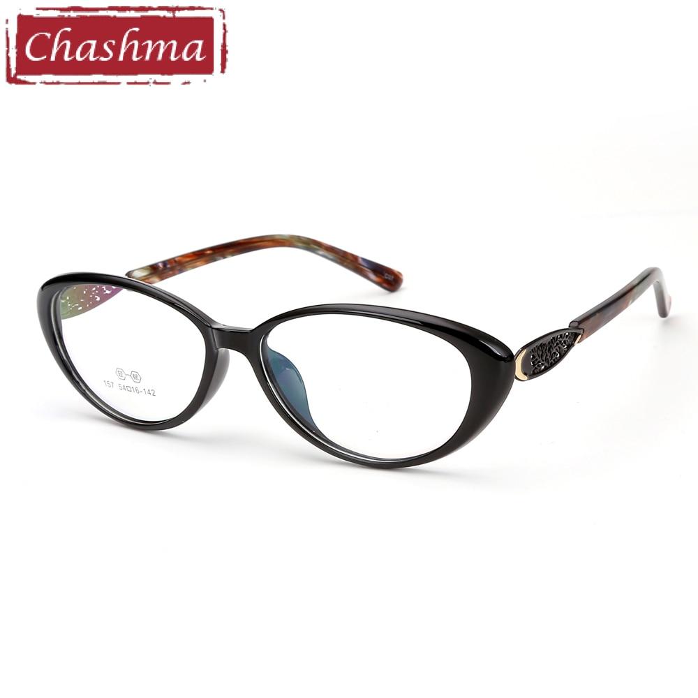 3343c571464 Chashma Brand Cat Eye Glasses Frame FEmale Black Eyewear TR90 Fashion  Stylish Optical Women s Eyeglasses Frame-in Eyewear Frames from Apparel  Accessories on ...