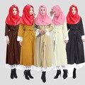 Abaya Turco Adulto Djellaba O Novo Muçulmano 2016 Cardigan Roupões de Vender Como Bolos Quentes Bud Cintura Splicing Longo-sleeved Cinto de vestido