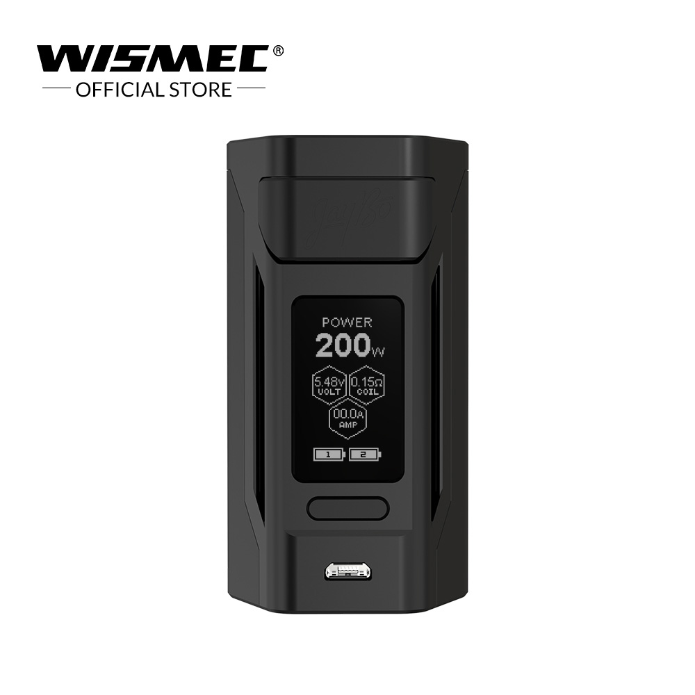 [Entrepôt USA] Original Wismec Reuleaux RX2 20700 Mod 1.3 pouces affichage RX Mod boîte 200 w cigarette électronique vape mod boîte