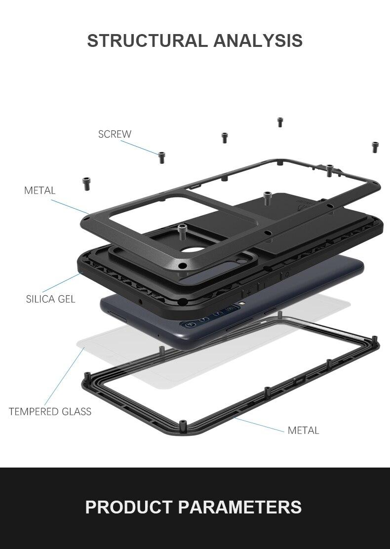 Pour Samsung Galaxy A9 2018 étui amour MEI choc résistant à la saleté résistant à l'eau en métal armure couverture téléphone étui pour Samsung Galaxy A9s
