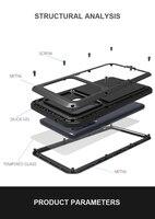 Funda para Samsung Galaxy A9 2018, carcasa de teléfono LOVE MEI a prueba de golpes y suciedad, carcasa de armadura de Metal resistente al agua para Samsung Galaxy A9s