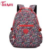 TEGAOTE School Backpack for Teenage Girls Nylon Casual Schoolbag Women Backpack Solid Famous Laptop Bagpack Female Rucksack 983