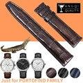 20 мм Натуральная кожа Крокодил Ремешки для наручных часов IWC Portofino семья аллигатора Кожа Часы Браслеты Ремешок бамбуковый узор мягкий