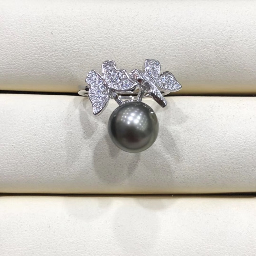 Pearl Ring Sets Ring Findings Adjustable Ring Jewelry Parts Fittings Charm Silver Accessories for Edison Pearls