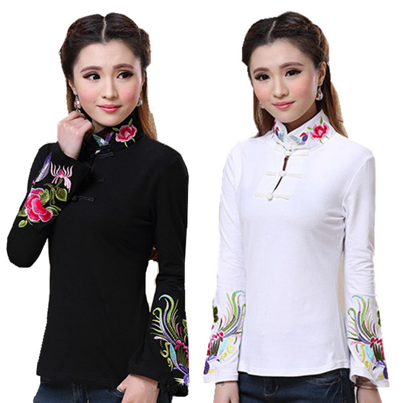 2020 New Spring Pullover Women Shirts Plus Size Cotton Embroidery Blusas Feminina Quality Ropa Mujer Body Tops Tee Blouse Shirt