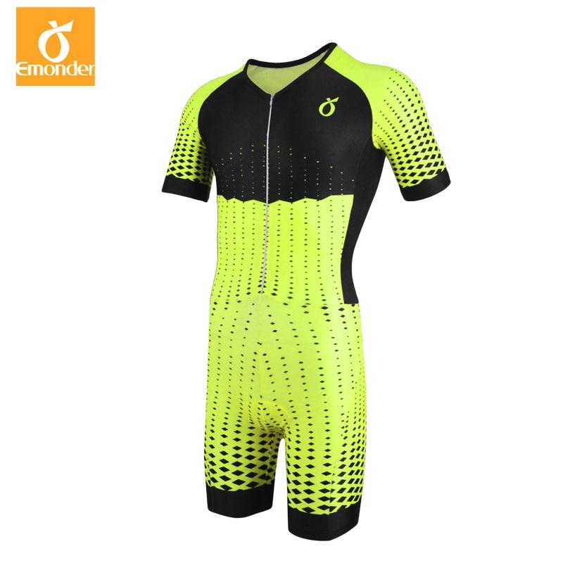 EMONDER 2019 Bicycle Skinsuit Men's Triathlon Sportswear Ropa Ciclismo Spain Team Cycling Clothing