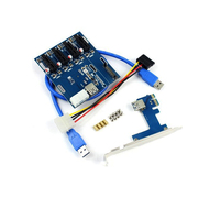 High Qualitry 4 Port PCI E to USB 3.0 HUB PCI Express Expansion Card Adapter 5 Gbps Speed For Desktop Computer Components