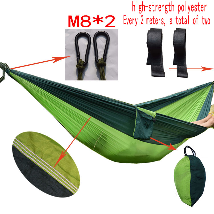 Superior quanlity Garden swing Sleeping bed single hanging portable hammock parachute nylon rede swing chair Camping hamaca portable parachute hammock camping swing garden chair swing