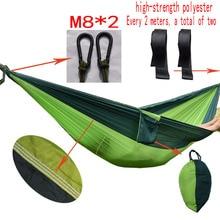 Quanlity Superior Jardín columpio cama Para Dormir solo colgando hamaca portátil silla del oscilación Que Acampa hamaca de nylon de paracaídas de rede