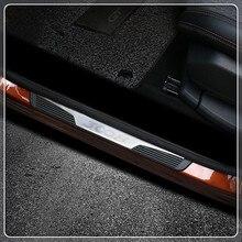 Per Peugeot 3008 GT 2016 2017 2018 Auto Davanzale Del Portello Del Piatto Dello Scuff Soglia Piastra Piastra di Copertura Trim 4 pezzi Accessori Auto car Styling