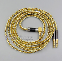 Pure OCC Silver Golden Plated Headphone Cable For Final Audio Vi Iriver AK T1P Denon AH
