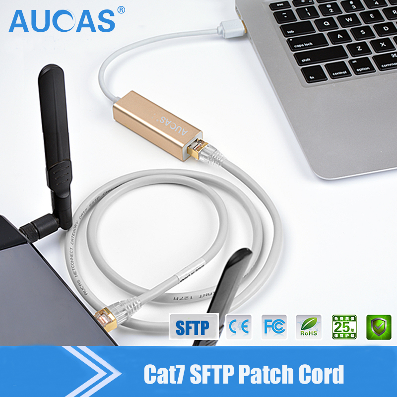 High quality Solid pure copper twisted pair network SFTP CAT7 Cable doule shielded RJ45 Ethernet Lan cable 10m 20m 30m 100m cat5 5e 8 pin intertek high speed lan network cable utp copper core wire twisted pair ethernet cables internet cable for pc