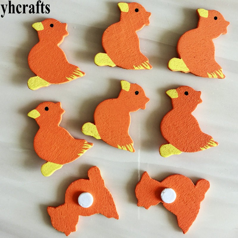 Just 100pcs/lot,white Chick Poultry Wood Stickers,easter Crafts.kids Room Decoration.diy Toys,craft Material,scrapbooking Kit.oem Sufficient Supply Toys & Hobbies Craft Toys