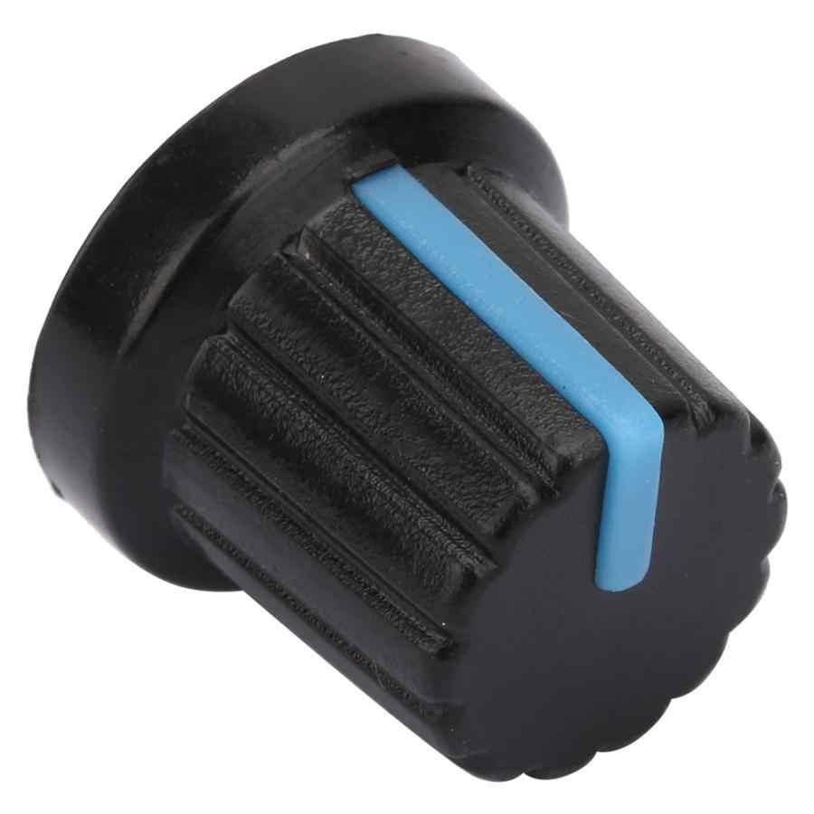 50 шт. 6 мм Звуковая консоль потенциометра крышка пластиковая крышка синий тактильный переключатель крышки ручки потенциометра