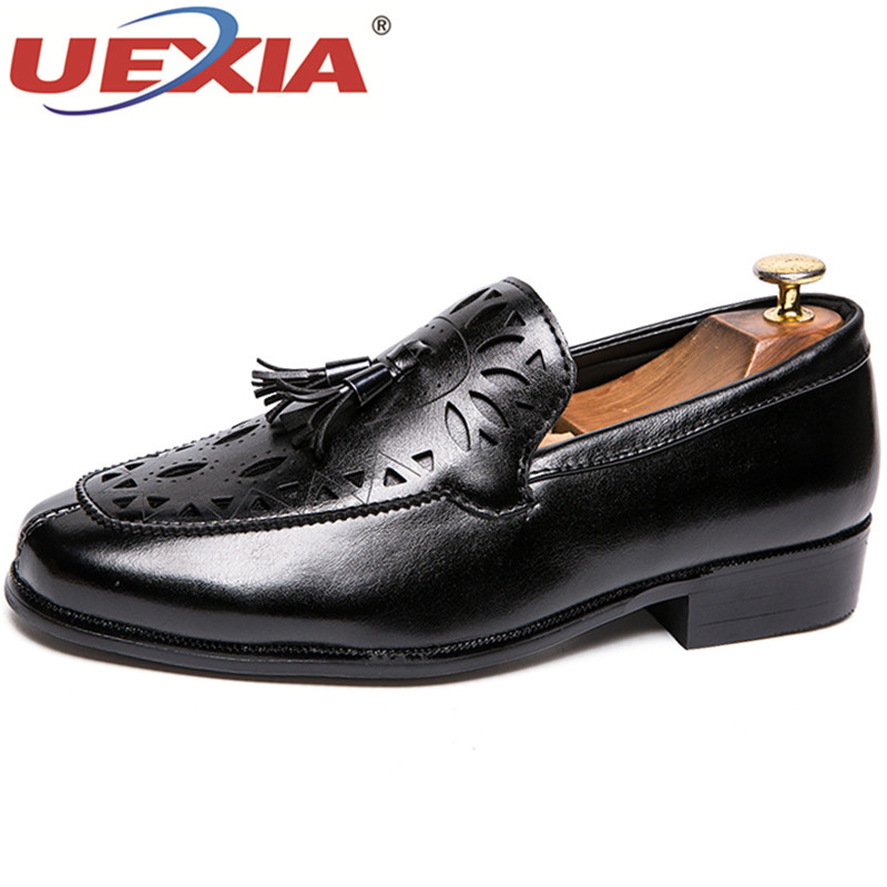 UEXIA Pointed Toe Men Wedding Shoes Blue Red Man Dress Shoes Spring Autumn  Social Footwear Rubber Sole Comfortable Business Shoe 540cfeb4cac5
