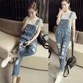 Женские джинсовые комбинезон женский комбинезон женщин 2016 новые поступления джинсовые комбинезоны женские джинсы комбинезон женщины элегантный AA1160