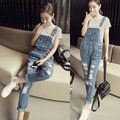 Female denim jumpsuit female jumpsuit women 2016 new arrivals denim overalls for women jeans jumpsuit women elegant AA1160
