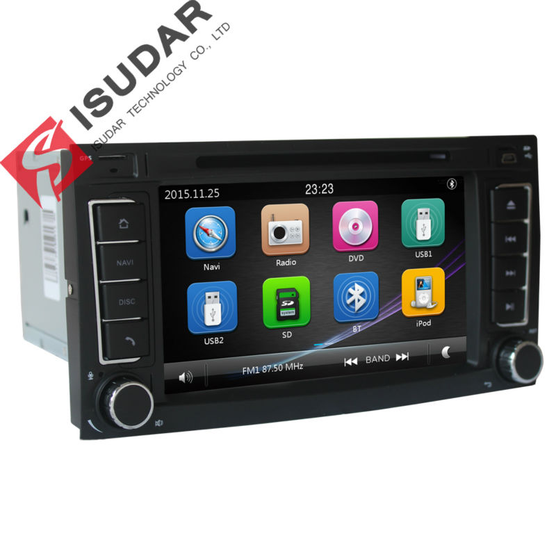 Two Din 7 Inch font b Car b font DVD Player For Touareg Volkswagen With Dual