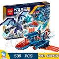 539 unids nuevos caballeros 14030 halcón luchador blaster diy bloques de construcción modelo de kit de arcilla juguetes nexus compatible con lego