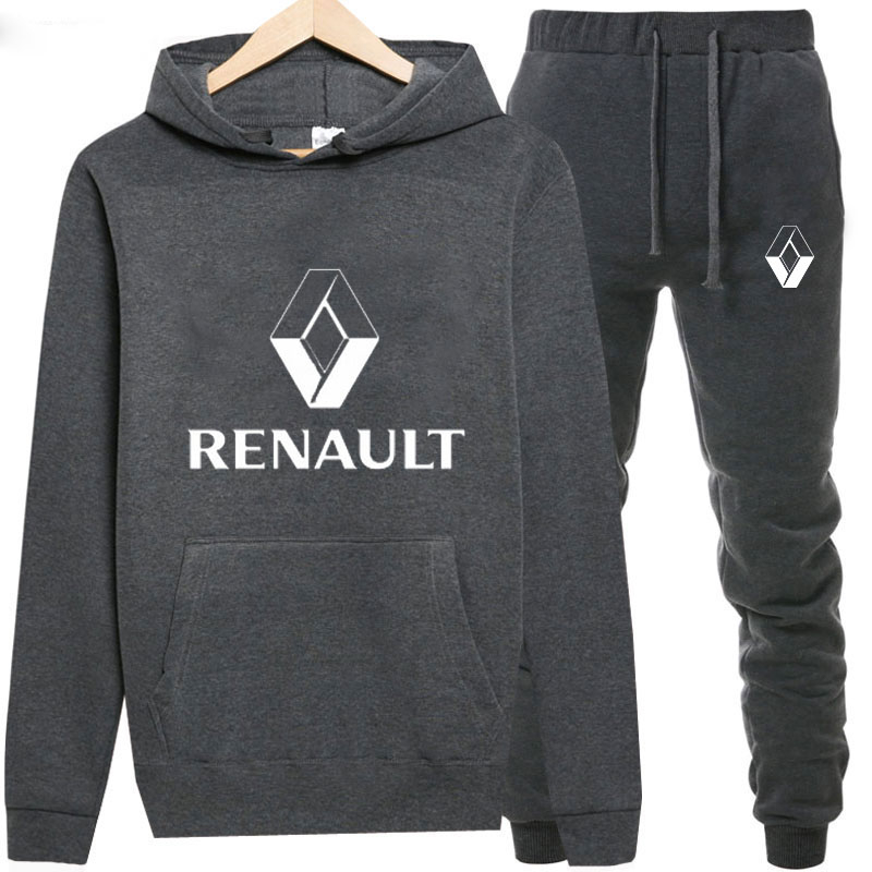 Sweatshirts+Sweatpants Suits Renault Print Hoodie Men/Women Pant Hoodies Spring Autumn Warm Fleece Hooded Pullover Outdoor