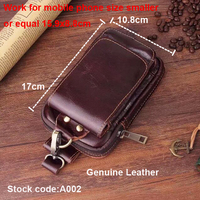 Belt Clip Man Genuine Cow Leather Mobile Phone Case Pouch For Sony Xperia XA1 Plus Xperia