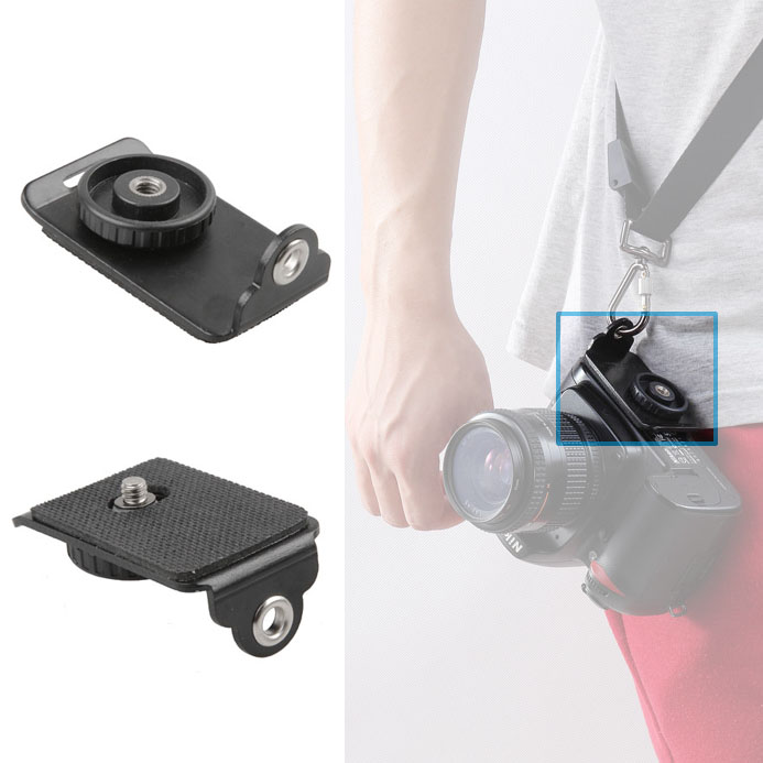 DSLR Camera Quick Release Plate With 1/4 Screw For Nikon Canon Sony Fuji Sling Shoulder Neck Strap Belt Accessories