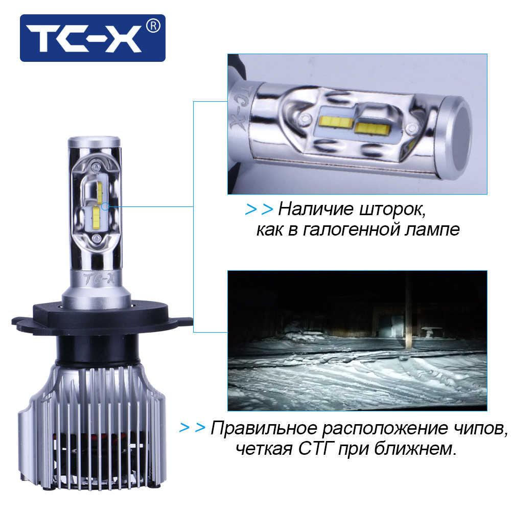 TC-X Coche diode H4 lamps LED Auto Headlights For Lada Granta Cars light  Bulbs Diodes avtolampy Lamp frete gratis led 12 volt