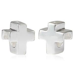 925 европейский стиль бусины DIY бусины серебряный крест, пригодный пандора браслет лучшие подарки