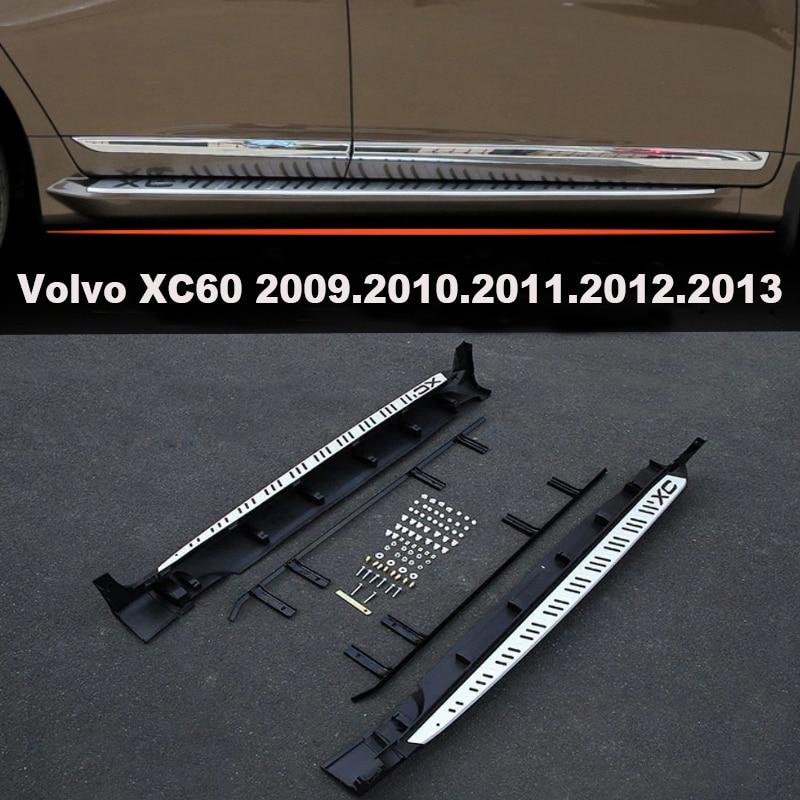 Pour Volvo XC60 2009.2010.2011.2012.2013 marchepieds Auto côté pédales haute qualité laque cuire couleur modèles originaux