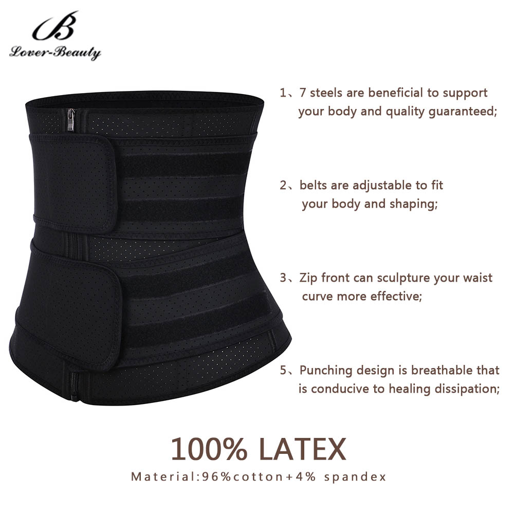 Image 2 - Lover Beauty Plus Size Latex Waist Trainer Fajas Double Waist Belt High Compression Cincher Corset Underbust Modeling Strap-in Waist Cinchers from Underwear & Sleepwears